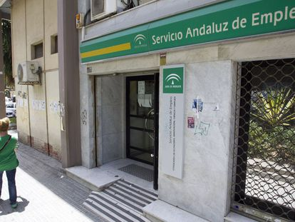An unemployment office in Andalusia.
