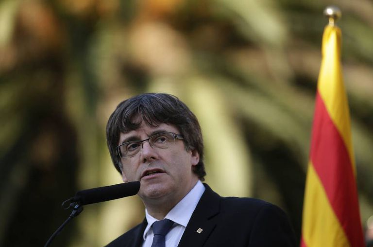 Catalan regional premier Carles Puigdemont, pictured on Sunday.