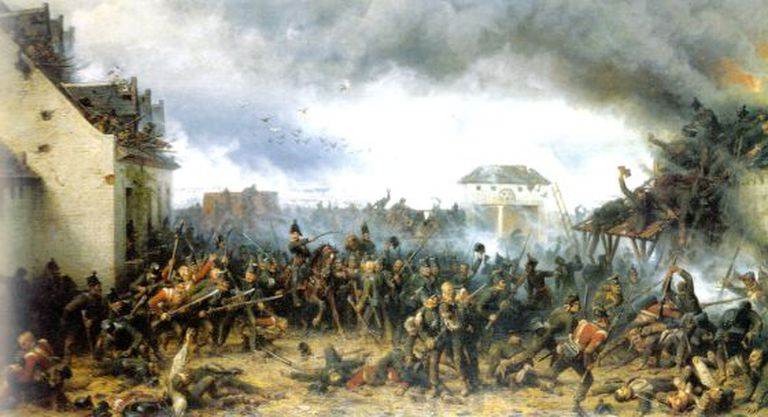 The Defence of Le Haye-Sainte by the King's German Legion by A. Northern.