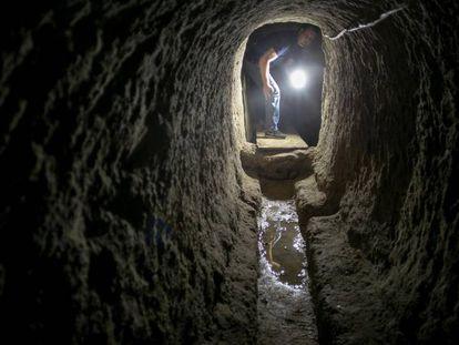 The Roman drains underneath Cadiz.