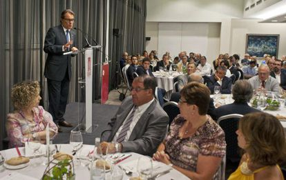 Artur Mas during his meeting in Girona on Tuesday night.