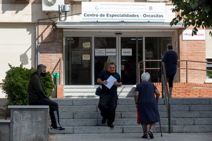 A medical center in Orcasitas, one of the neighborhoods in Madrid that has been confined.