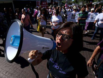 Demonstration against gender-based violence on April 24 in Guadalajara.