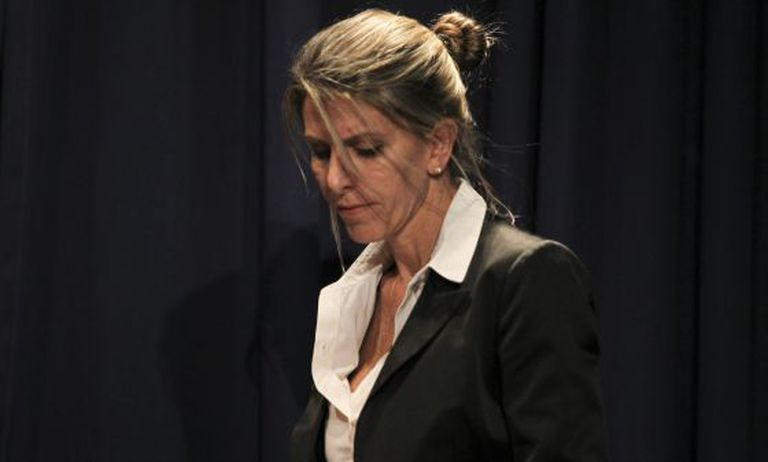 Nisman's ex-wife, Judge Sandra Arroyo Salgado, during a news conference on Thursday.