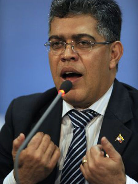 Venezuela's Foreign Minister Elías Jaua speaks at a press conference during the XLIII Regular Session of the Organization of American States General Assembly, in Antigua Guatemala.