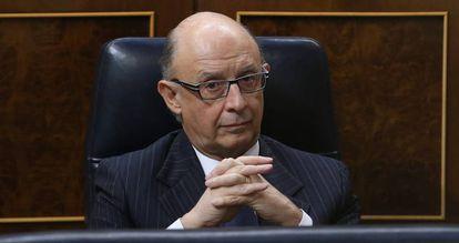 Spainish Finance Minister Cristobal Montoro mulls his options.