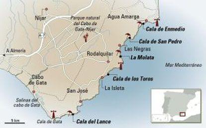 Cabo de Gata natural park in the province of Almería.