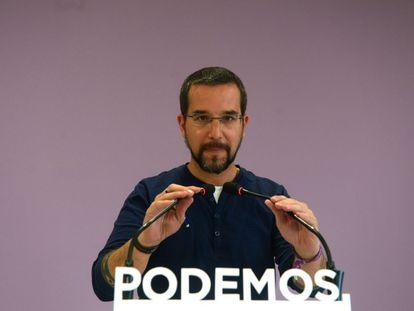 Former Podemos organization secretary Sergio Pascual.