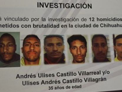A notice asking for citizen cooperation in finding the suspect, who was arrested Tuesday.