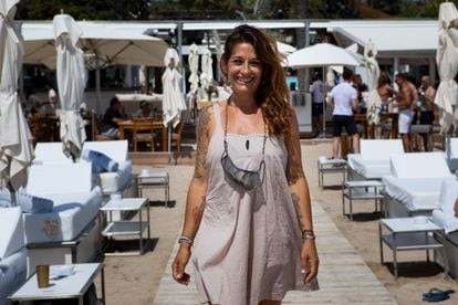 Regina Scardaccione, in charge of bookings at the Blue Marlin in Ibiza.