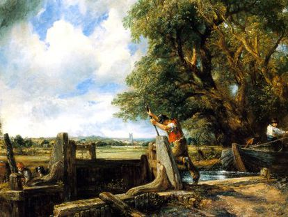 John Constable's 'The Lock' will go under the hammer on July 3.