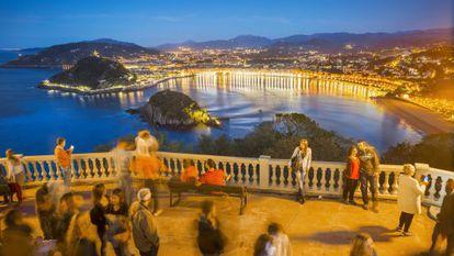 San Sebastián as viewed from Monte Igueldo.