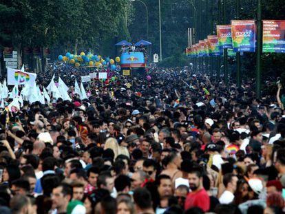 Madrid during Gay Pride week.
