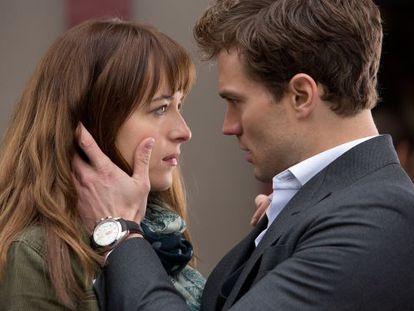 Dakota Johnson and Jamie Dornan in 'Fifty Shades of Grey.'