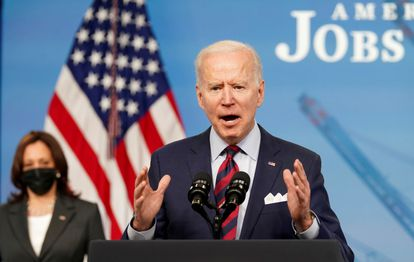 President Joe Biden at a press conference earlier this month in the White House.