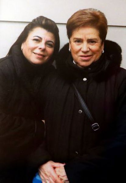 Pilar Monclús and her mother Benedicta García on the day they were first reunited in November 2011.