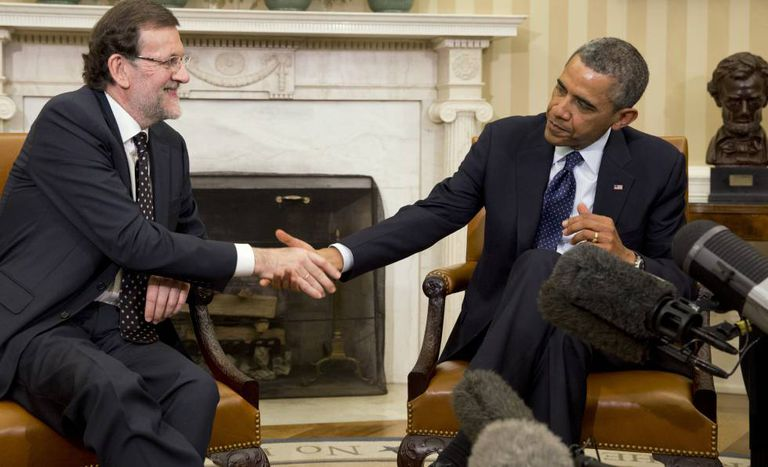 Mariano Rajoy and Barack Obama at the White House in January 2014.