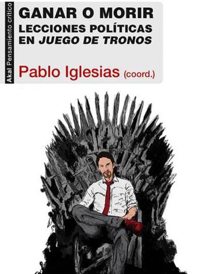 The cover of a book curated by Pablo Iglesias.