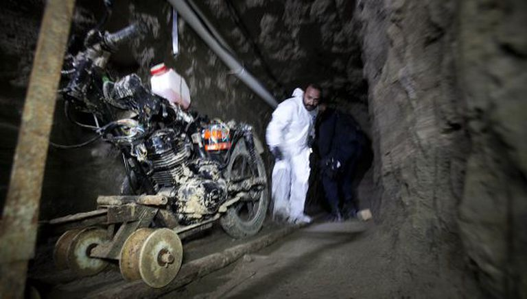 The vehicle used to help dig El Chapo's escape tunnel.