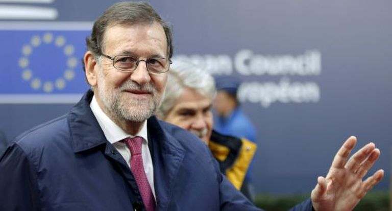 Mariano Rajoy at a meeting with European leaders in Brussels on Friday.