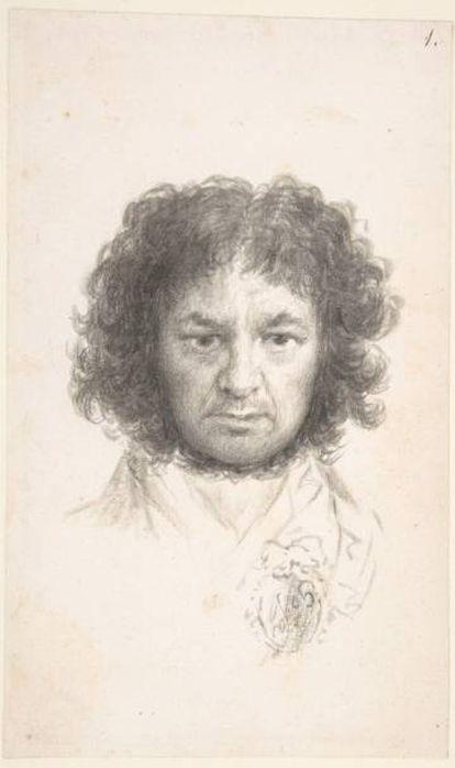 A self-portrait by Francisco Goya.