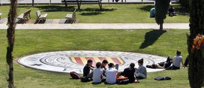Students at the Politécnica de Valencia university. Many face increasing difficulties paying higher tuition fees.