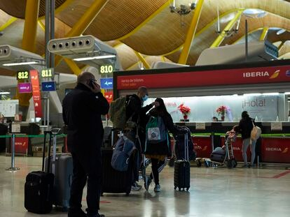 Passengers in Madrid's Barajas Airport this week.