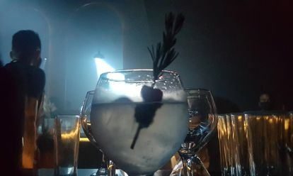 Drinks at an underground club in Mexico City.