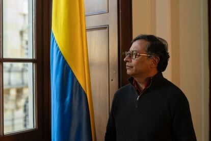 Gustavo Petro during the interview.