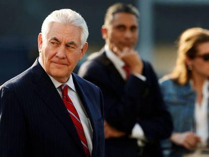 Rex Tillerson arrives in Mexico City.