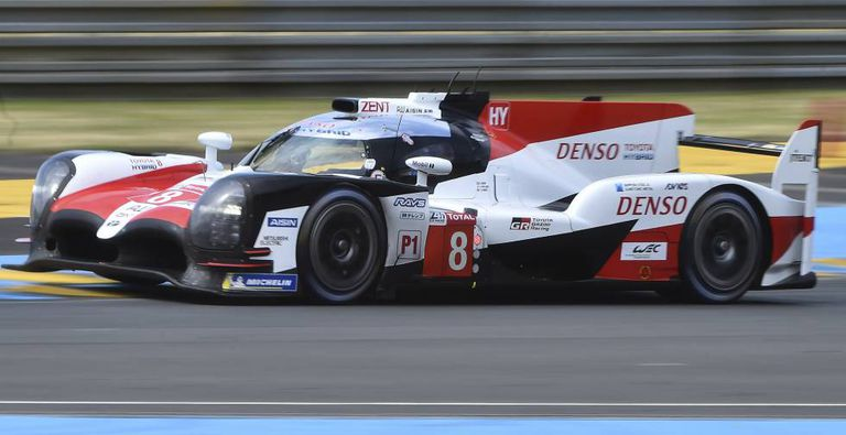 Alonso during the 24 Hours of Le Mans.