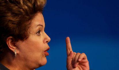 A file image of Brazilian President Dilma Rousseff.