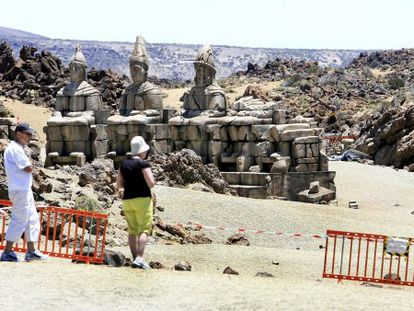 The set for Wrath of Titans in Teide National Park, in the Canary Islands