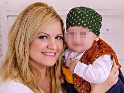 Pilar Garrido with her son.