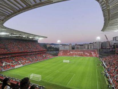 A view across Athletic's new San Mamés stadium.