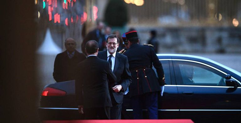 Spanish Prime Minister Mariano Rajoy in France on Monday.