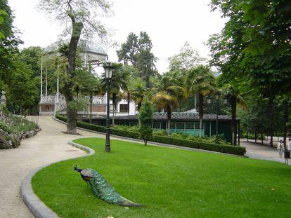 The park where the couple slept.