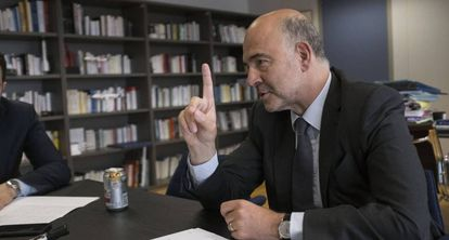 Moscovici during the interview.