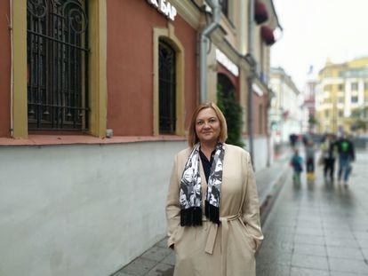 Former spy Elena Vavilova in Moscow on June 11.