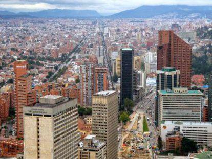 The Colombian city of Bogotá.