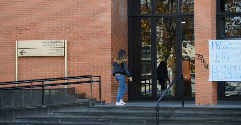 The attack took place at the University of the Basque Country in Vitoria.