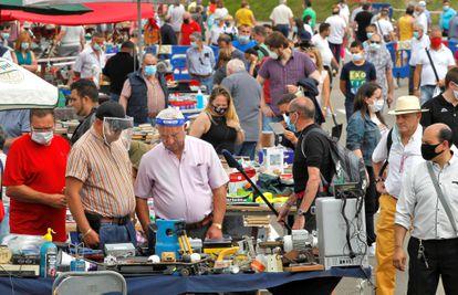 The Rastro flea market in Gijón on June 21.