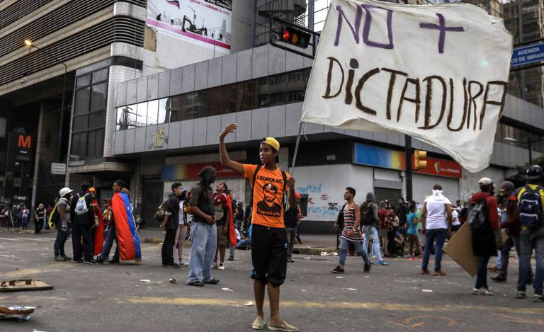 A protest in Caracas on July 18.