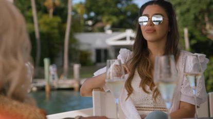 Emma Coronel, in a scene from the reality TV program 'Cartel Crew.'