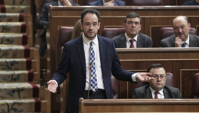 The Socialist spokesman in Congress, Antonio Hernando.