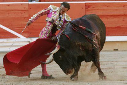 Antonio Ferrera at a bullfight during the 2017 Sanfermines.