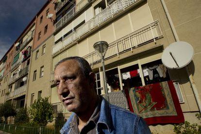 Mohamed Aziz, plaintiff in the European court case, standing outside his home in Martorell.