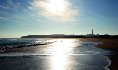 La Marisucia beach lies next to the Trafalgar lighthouse.
