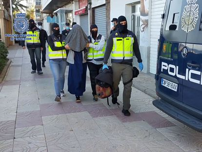 Cristina B following the arrest by the police.