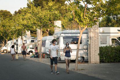 A motorhome park in Bétera, Valencia.